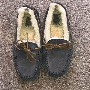 UGG grey slippers moccasin